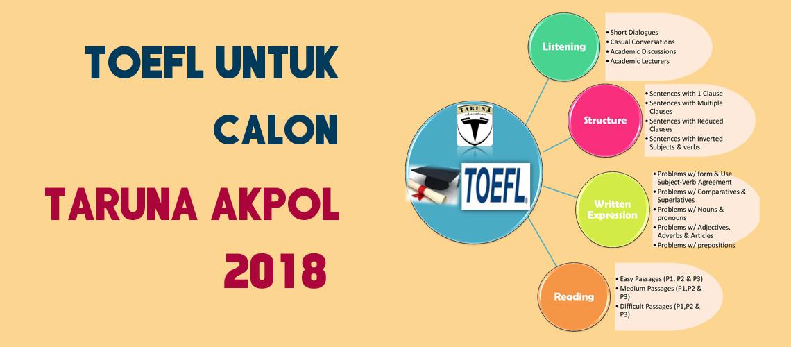 TOEFL Untuk Calon Taruna AKPOL 2018