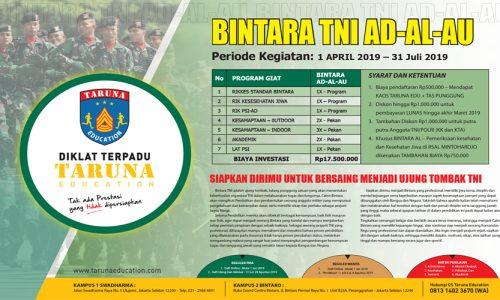 Diklat Terpadu Program Persiapan Pendaftaran Bintara TNI 2019
